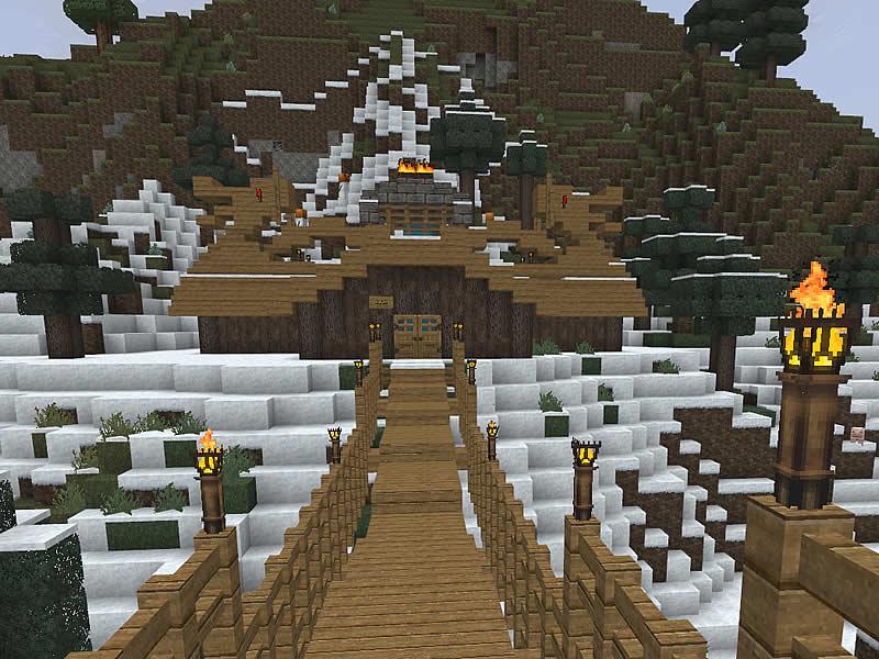 wikingerdorf drachenhort  luretania  eine minecraft welt