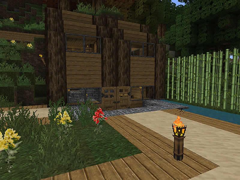 Siedlung am hauptbahnhof luretania eine minecraft welt for Minecraft modernes haus 18x18