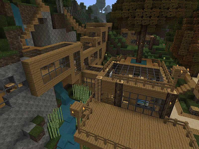 Siedlung Am Hauptbahnhof Luretania Eine Minecraft Welt - Minecraft haus bauen im berg