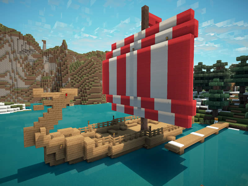 Minecraft Spielen Deutsch Minecraft Wikinger Huser Bild - Minecraft wikinger hauser