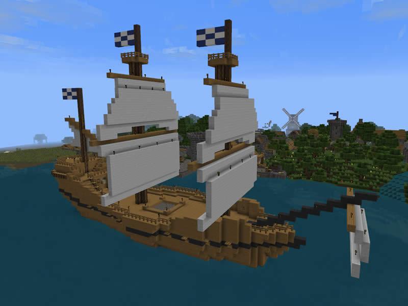 schiff ahoi von galeonen und drachenbooten luretania eine minecraft welt. Black Bedroom Furniture Sets. Home Design Ideas